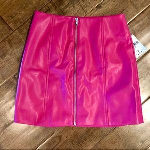 Mini (Faux) Leather Skirt